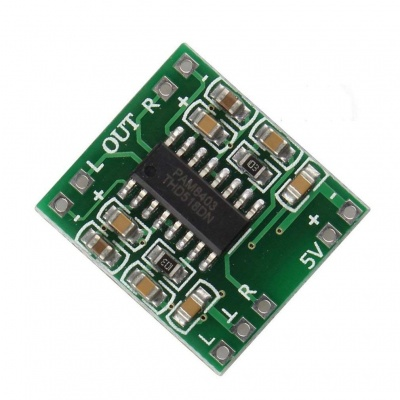 Super Mini PAM8403 Digital Power Amplifier Board 2*3W Class D 2.5-5V USB Power