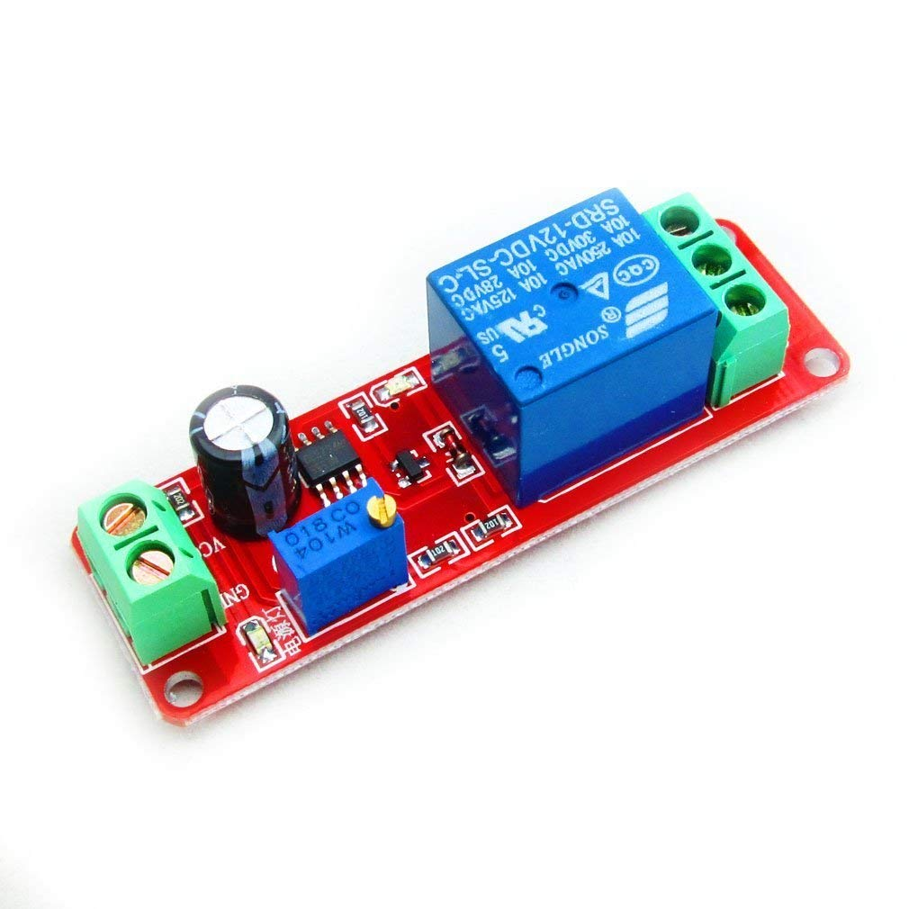 NE555 DC 12V Delay Timer Switch Adjustable Module 0 to 10 Second