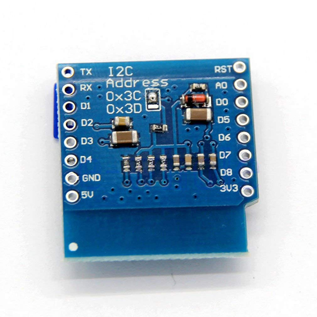 "0.66"" OLED WeMos D1 mini OLED Shield with I2C/IIC 64x48 Pixels 3.3V"