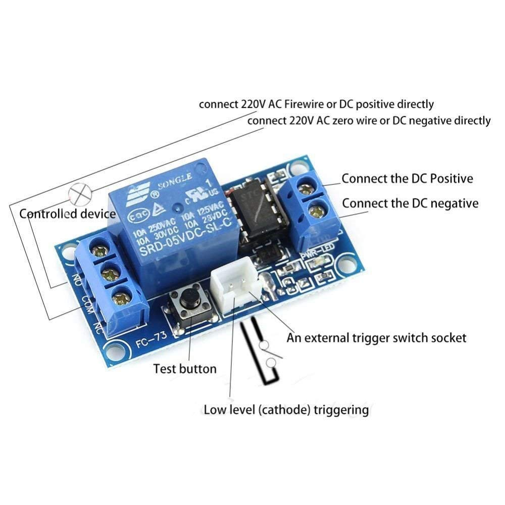 5V 1 Channel Latching Relay Module with Touch Bistable Switch MCU Control
