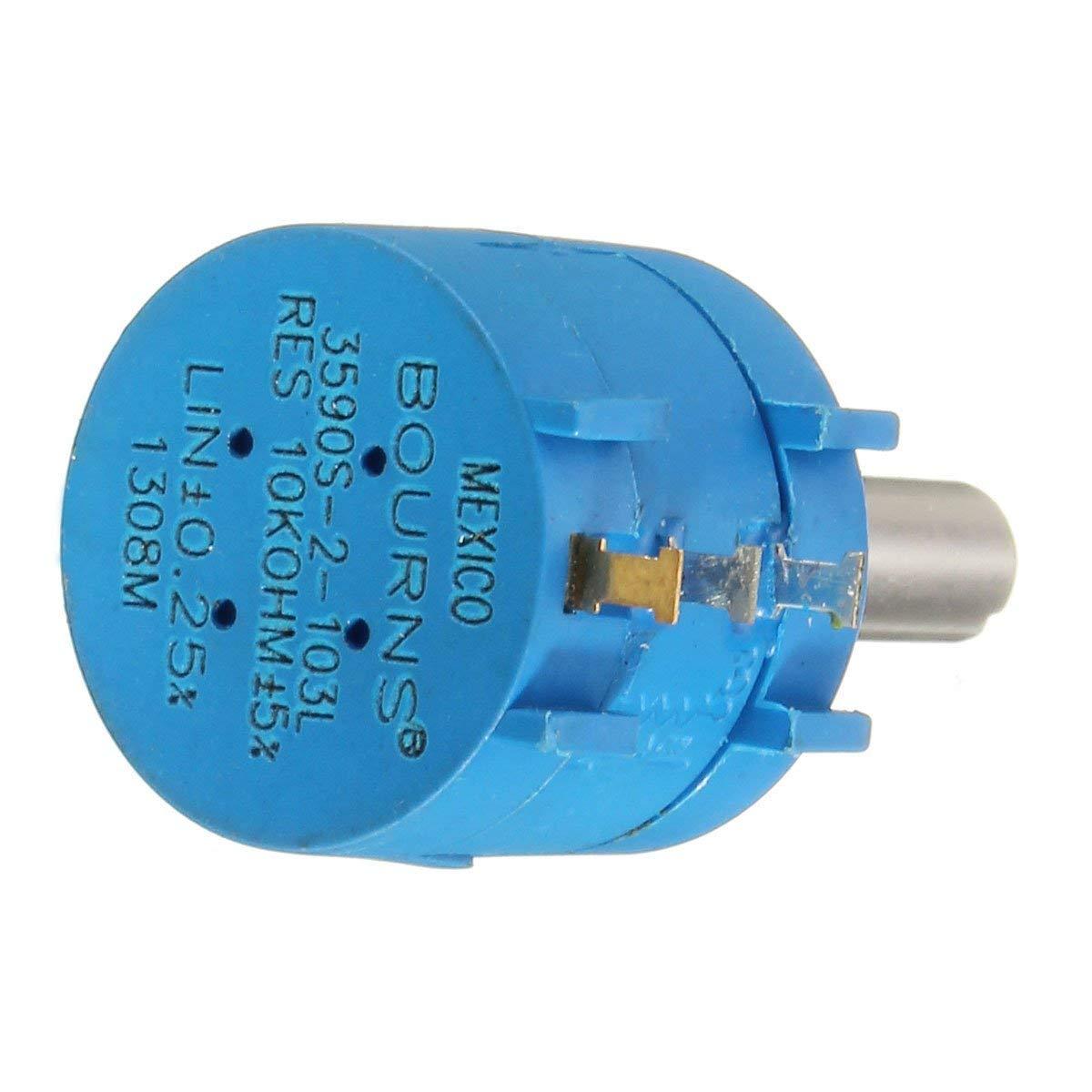 3590S-2-103L 10K Ohm 10-Turn Rotary Wire Wound Precision Potentiometer Pot