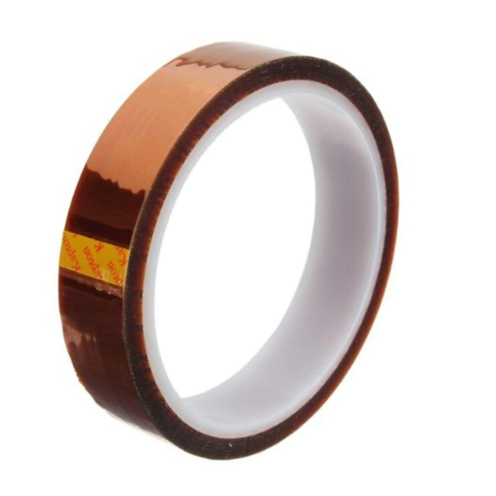 20mm 100ft Gold High Temperature Heat Resistant Kapton Tape Polyimide BGA