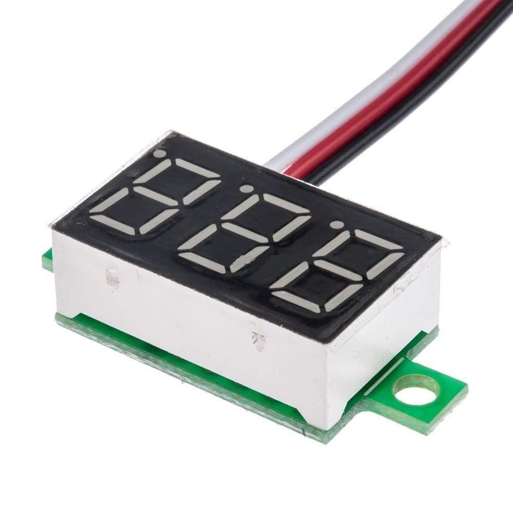 """3 Wires 0.36"""" DC Digital Voltmeter Gauge Red LED Display Panel Volt Meter DC 0~30V"""