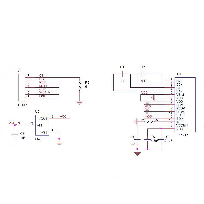 """0.91"""" SPI OLED LCD Display 128x32 SSD1306 3.3V/5V AVR PIC STM32 Arduino"""