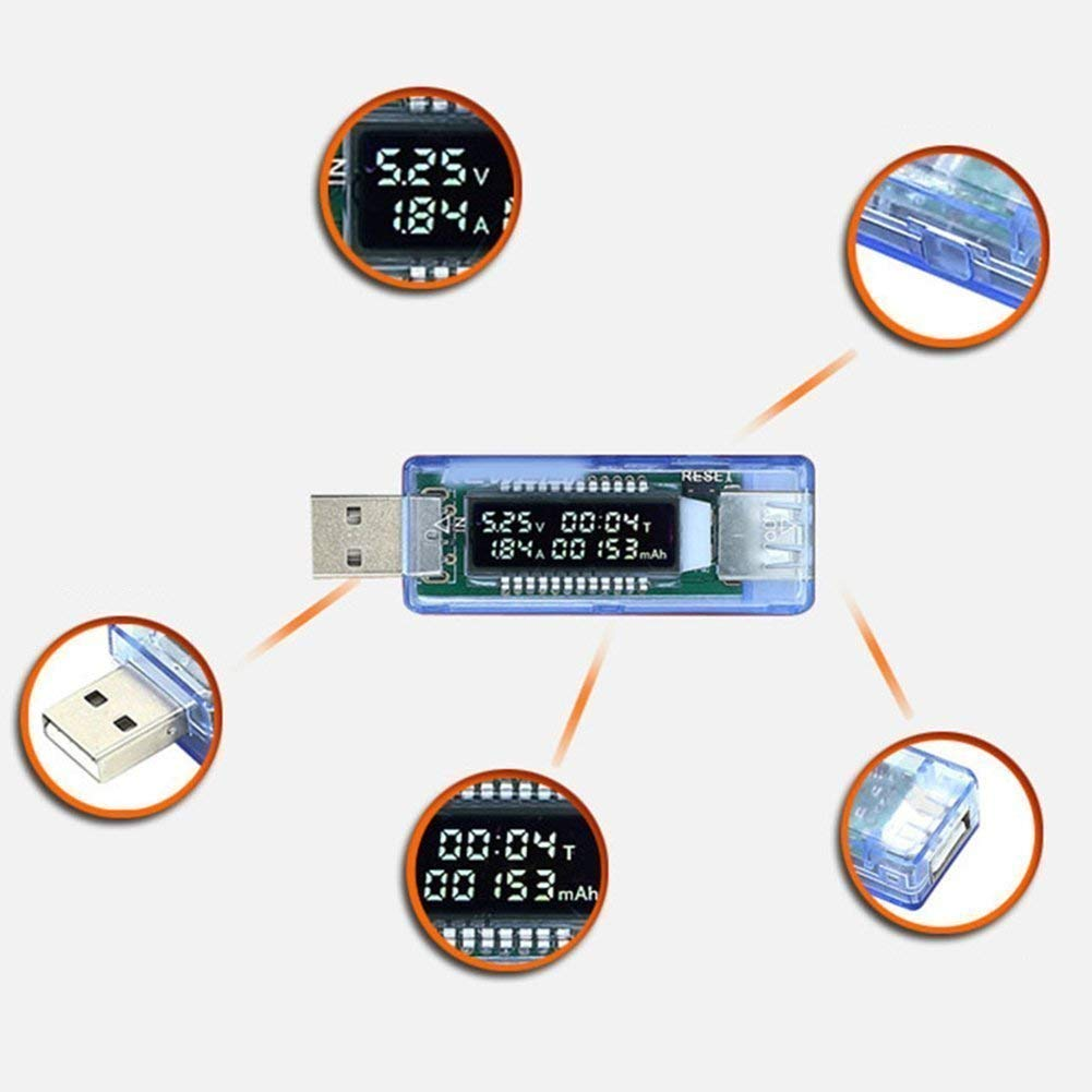 LCD USB Current Voltage Doctor Charger Capacity Tester Meter Power Bank