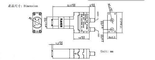 DC 3V Micro Vacuum Pump Super Mini Air Pump Medical Pump 30KPa 0.28L/m 160mA