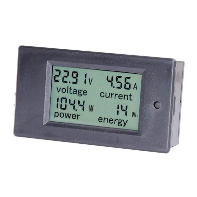 LCD Digital Display DC 6.5-100V 0-20A Voltmeter/ Power Meter/ Electric Power Monitor Bulit-in Shunt