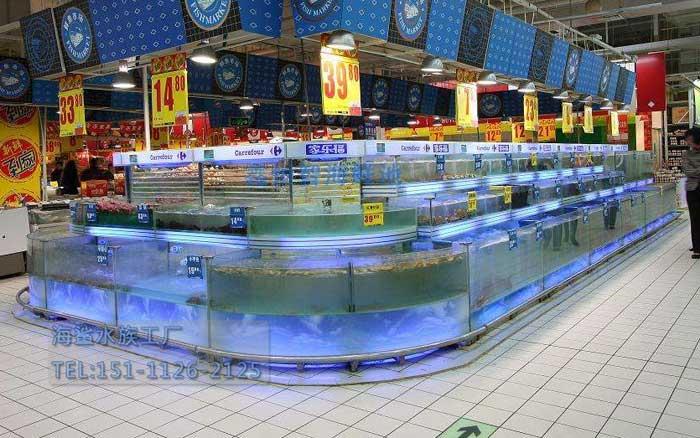 长沙超市海鲜池