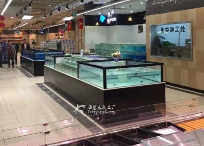 长沙超市海鲜鱼池定做 就找海鲨水族工厂