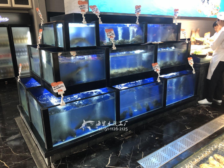 株洲酒店酒楼高端海鲜鱼池 ***海鲨水族工厂
