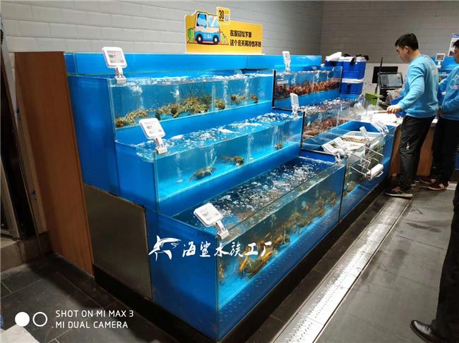 株洲超市海鲜池定做 厂家定制