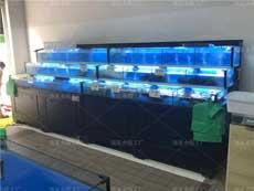 长沙株洲厂家定做海鲜鱼池鱼缸 生鲜市场专用