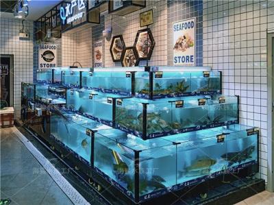 株洲海鲜池,超市海鲜鱼缸定做厂