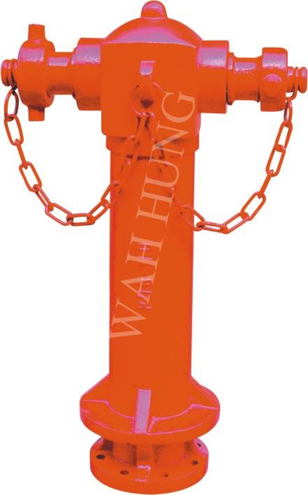 WH022 DN100 Pedestal Street Fire Hydrant