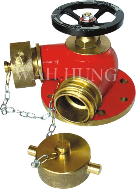 WH003-A V Shape Twin Outlet Fire Hydrant