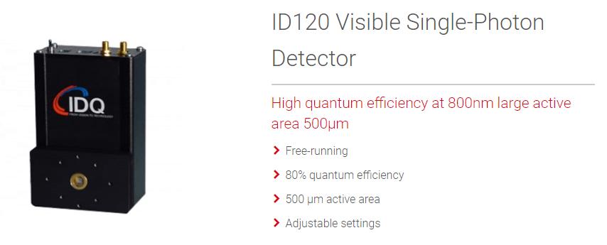 IDQ可见光光子计数器