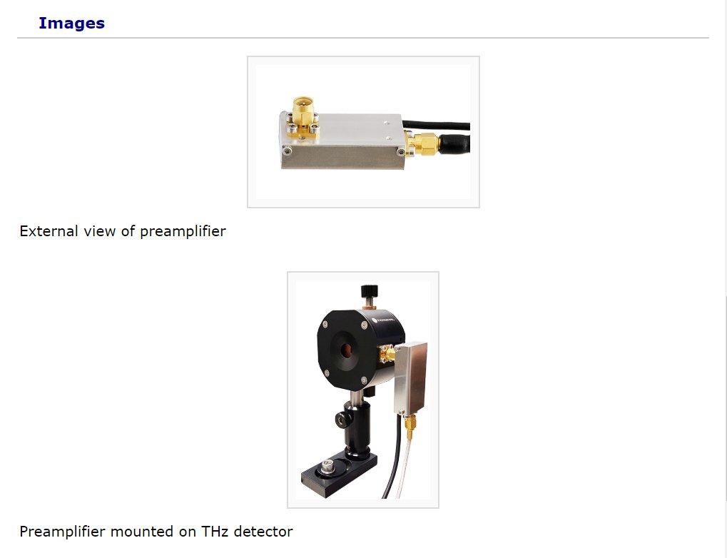 太赫兹探测器前置放大器