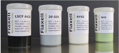 Fiaxell 油墨,粉末,电池和陶瓷加工