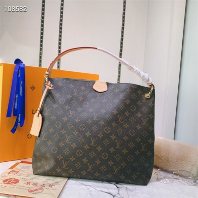 LV Totes - #43704 Classic Coffee Almond Color Linning Montaigne