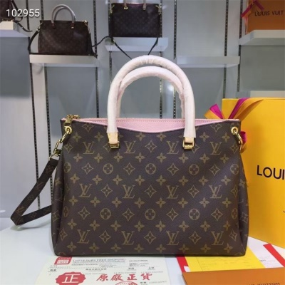 LV Totes - #M40906 Classic Brown Pallas Pink Lining