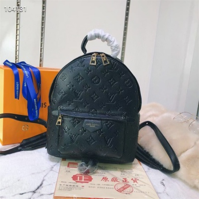 LV Backpack - #M41560 Black Leather Plamspring PM