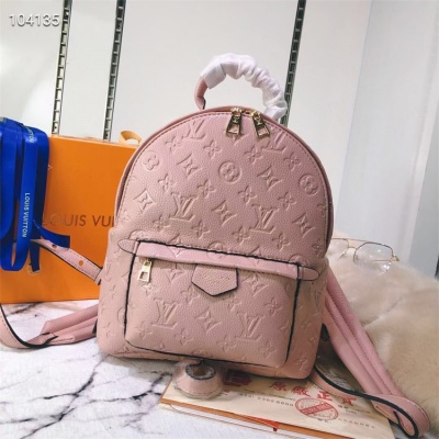 LV Backpack - #M41560 Pink Leather Plamspring PM