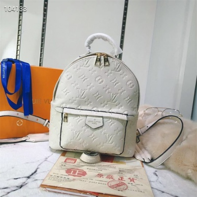 LV Backpack - #M41560 White Leather Plamspring PM
