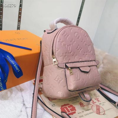 LV Backpack - #M41560 Pink Leather Plamspring MM Medium Size