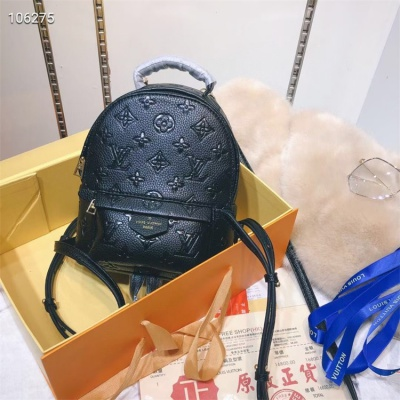 LV Backpack - #M41560 Black Leather Plamspring MM Medium Size