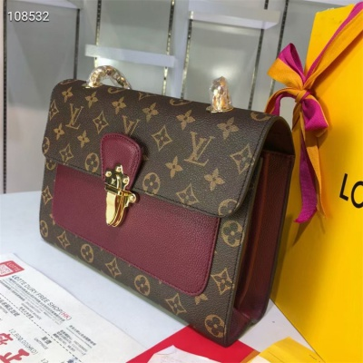 LV Chain Bags - #M41731 Combination Burgundy Montaigne BB
