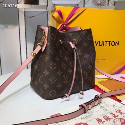 LV Shoulder & Cross Body Bags - #M44020 Classic Brown Neonoe Pink Lining