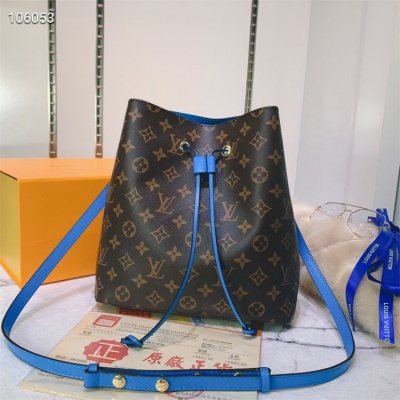 LV Shoulder & Cross Body Bags - #M44022 Classic Brown Neonoe Blue Lining