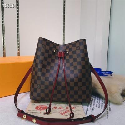 LV Shoulder & Cross Body Bags - #M44022 Coffee Plaid Neonoe Hot Pink Lining