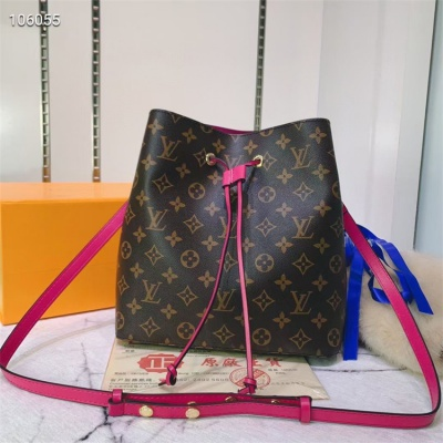 LV Shoulder & Cross Body Bags - #M44022 Classic Brown Neonoe Hot Pink Lining