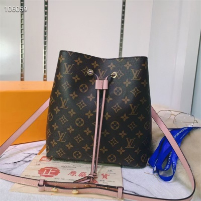 LV Shoulder & Cross Body Bags - #M44022 Classic Brown Neonoe Pink Lining