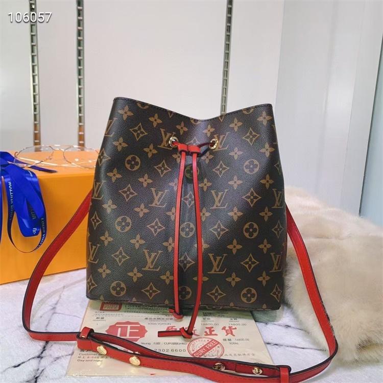 LV Shoulder & Cross Body Bags - #M44022 Classic Brown Neonoe Red Lining