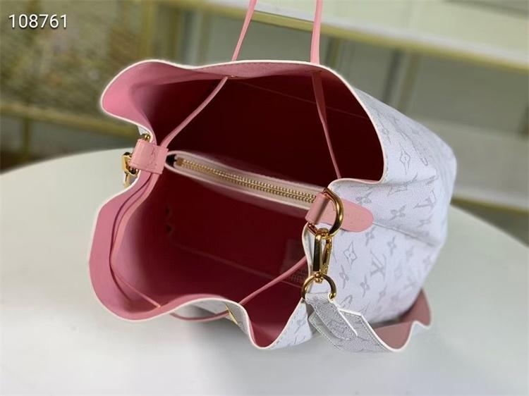 LV Shoulder & Cross Body Bags - #M44022 White Classic Neonoe Pink Lining