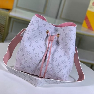 LV Shoulder & Cross Body Bags - #M44022 White Classic Neonoe Pink Lining
