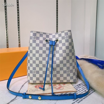 LV Shoulder & Cross Body Bags - #M44022 White Plaid Neonoe Blue Lining