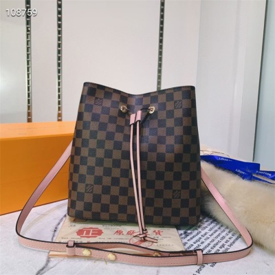 LV Shoulder & Cross Body Bags - #M44022 Brown Plaid Neonoe Almond Lining