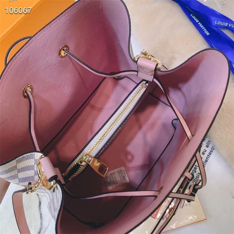 LV Shoulder & Cross Body Bags - #M44022 White Plaid Neonoe Yellow Lining