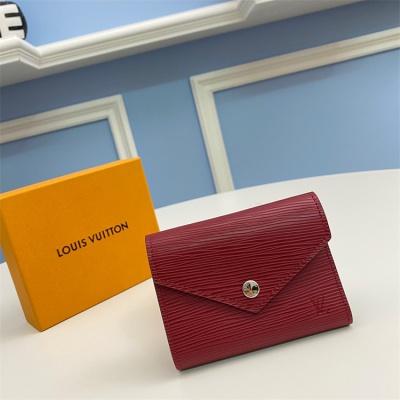 M62171 - LV Burgundy Victorine Leather Wallet