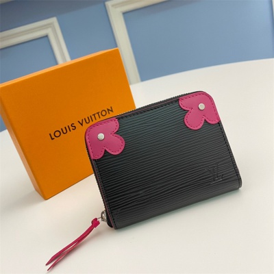 M62971 - LV Rose Pink Zippy Epi Blooming Corners Clemence Leather Wallet