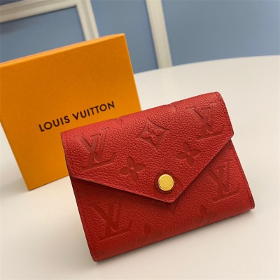 M62971 - LV Red Victorine Leather Wallet