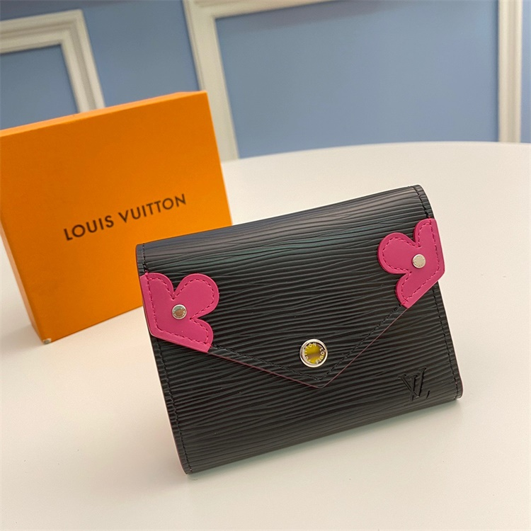 M62980 - LV Rose Pink Victorine Epi Blooming Corners Clemence Leather Wallet