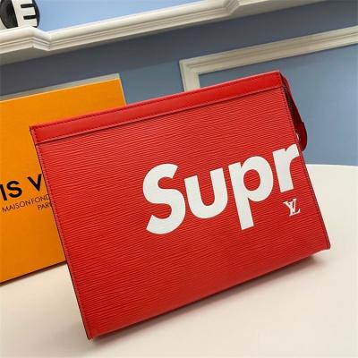 M66859 - LV Red Superme Epi Zippy Leather Wallet