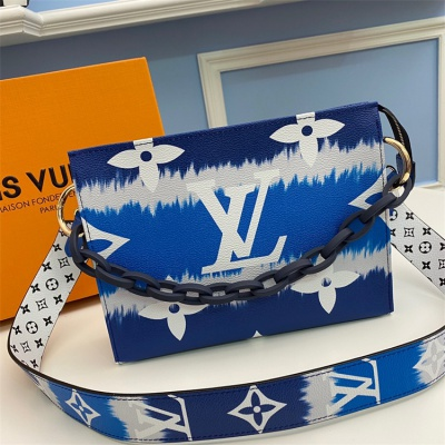 M68136 - LV Royal Blue Toilet Puch XL
