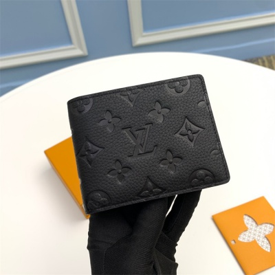 M68037 - LV Black Taurillon Leather Wallet