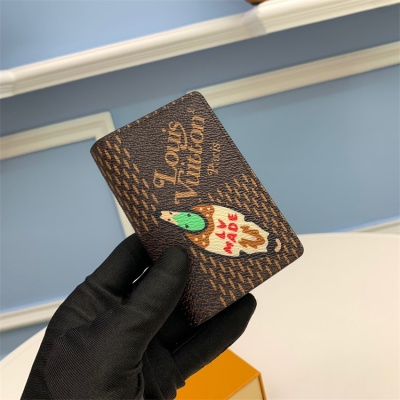 N60391 - LV Coffee Virgil Abloh Giant Damier Ebene Leather Wallet