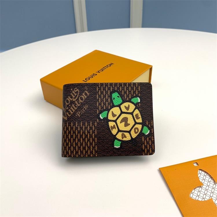 N60396 - LV Coffee Multiple Virgil Abloh Giant Damier Ebene Leather Wallet